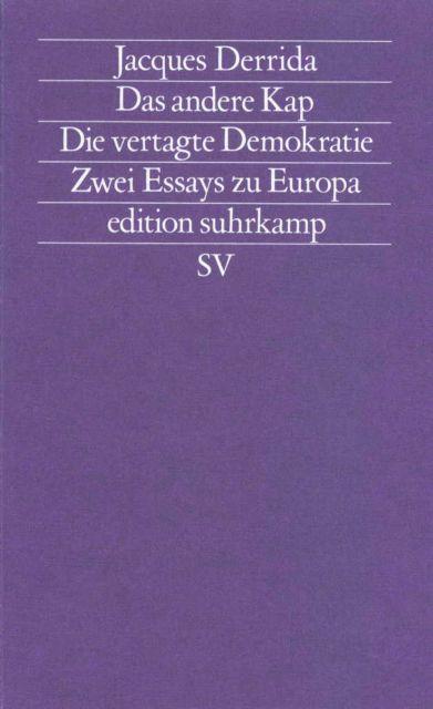 jacque derridas essays Essays and criticism on jacques derrida - derrida, jacques (vol 24.