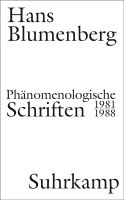 Phänomenologische Schriften - 1981-1988, Suhrkamp, 2018 Book Cover