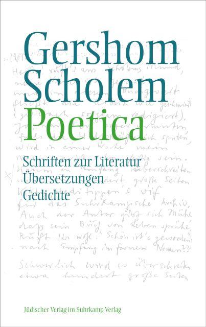 Poetica Schriften Zur Literatur übersetzungen Und Gedichte